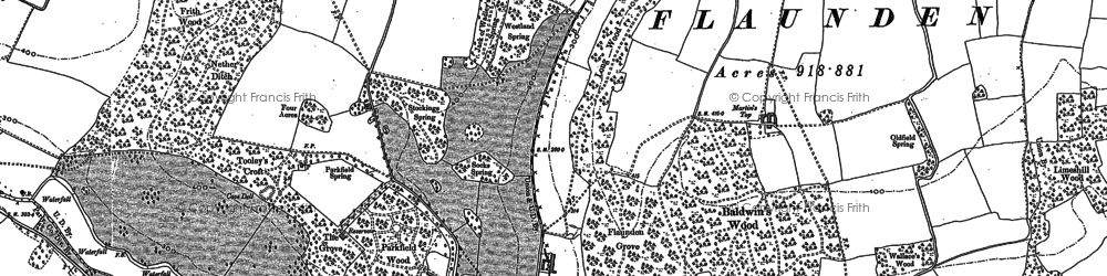 Old map of Baldwin's Wood in 1923