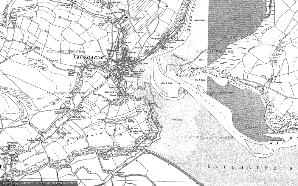 Old Map of Historic Map covering Laques-fawr in 1887