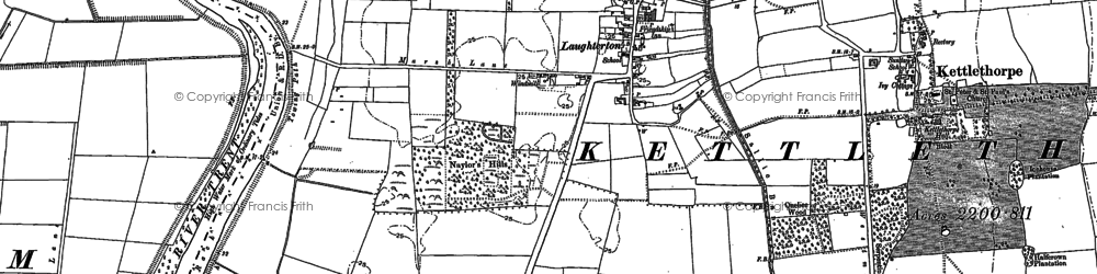 Old map of Laughterton in 1884