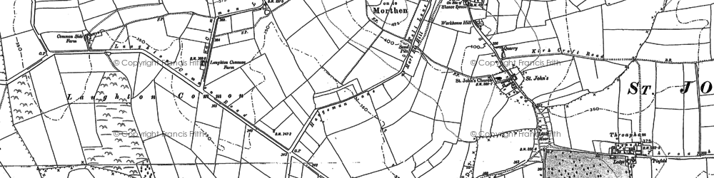 Old map of Laughton Common in 1890