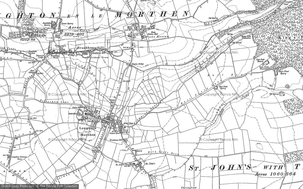 Old Map of Laughton en le Morthen, 1890 - 1901 in 1890