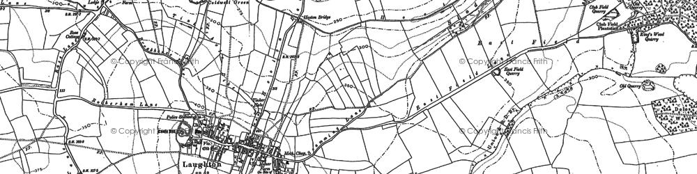 Old map of Laughton en le Morthen in 1890
