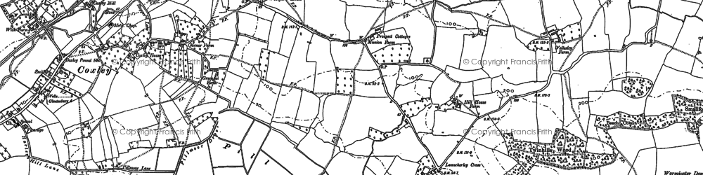 Old map of Launcherley in 1884