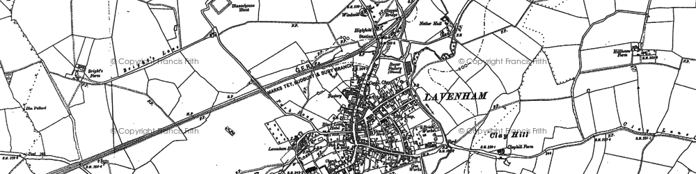 Old map of Likely Hill in 1884