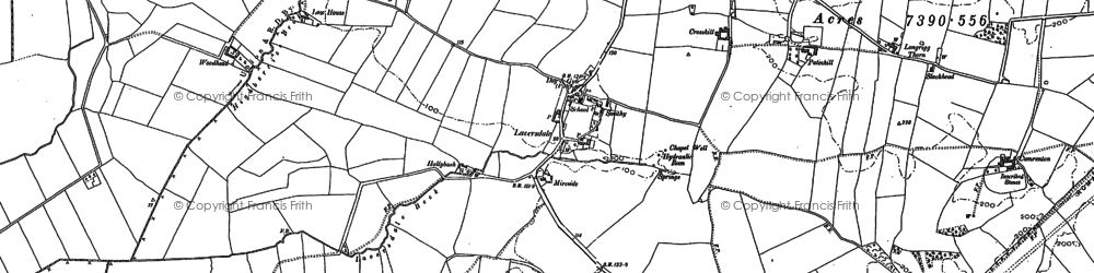 Old map of Laversdale in 1899