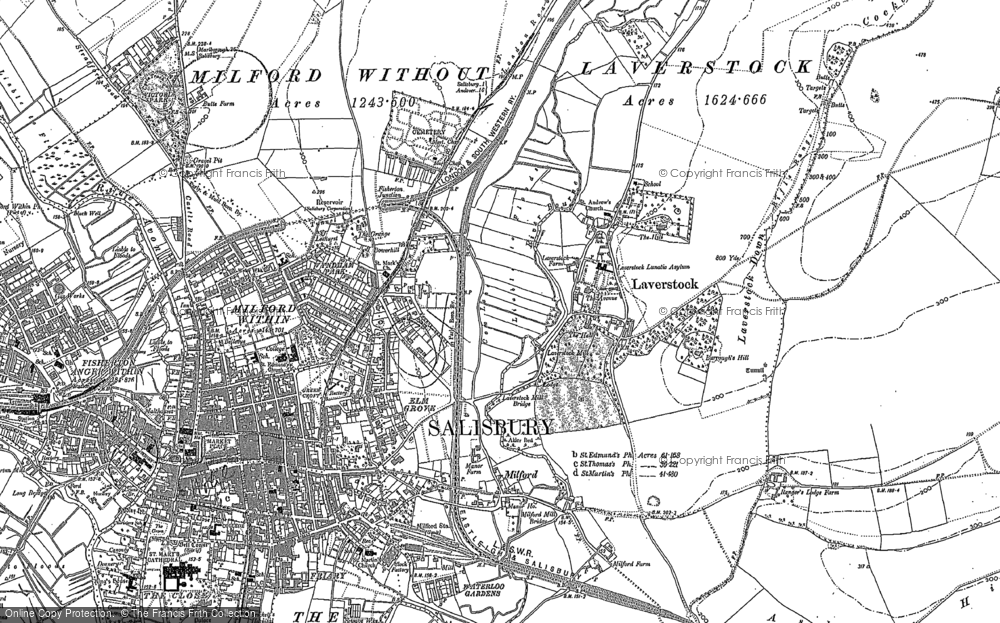 Old Map of Laverstock, 1900 - 1924 in 1900