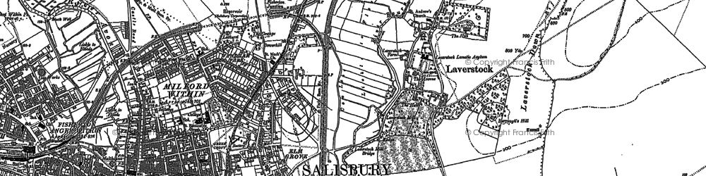 Old map of Laverstock in 1900
