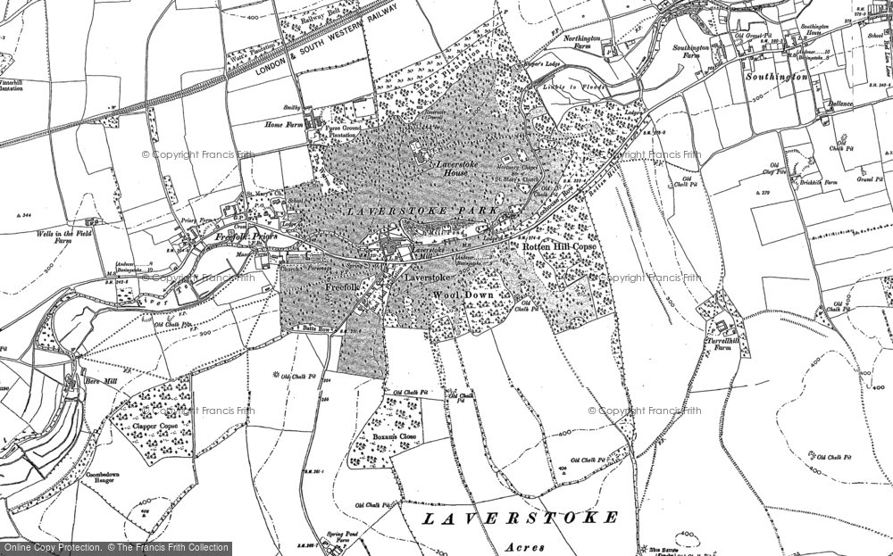 Old Map of Laverstoke, 1894 in 1894