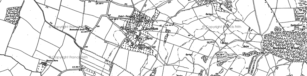 Old map of Laverton in 1883