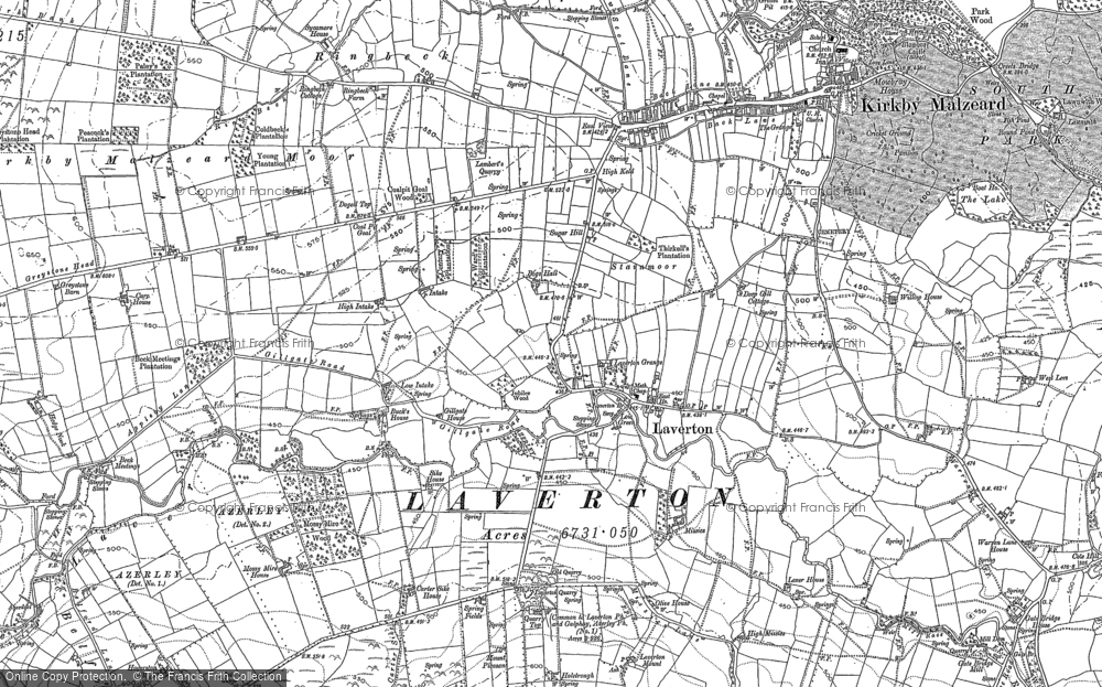 Old Map of Laverton, 1890 - 1908 in 1890