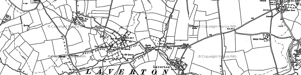 Old map of Laverton in 1902