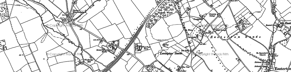 Old map of Lavington Sands in 1899