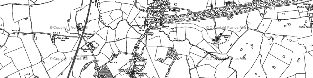 Old map of Lavister in 1909