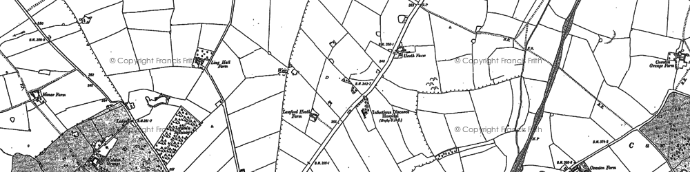 Old map of Lawford Heath in 1886