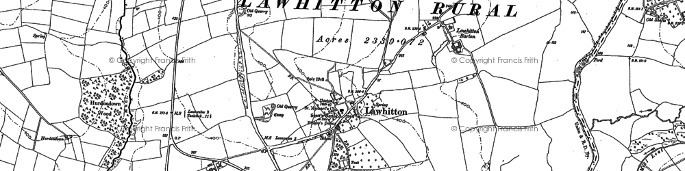 Old map of Lawhitton in 1883