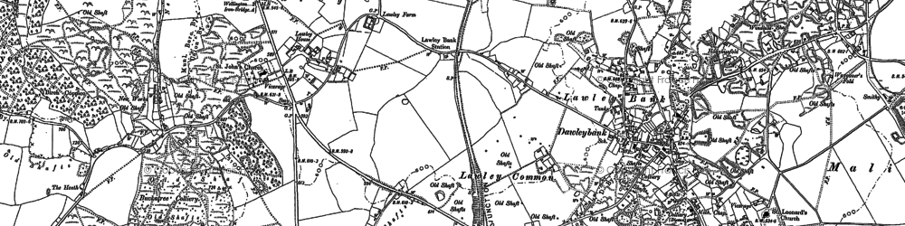 Old map of Lawley in 1882