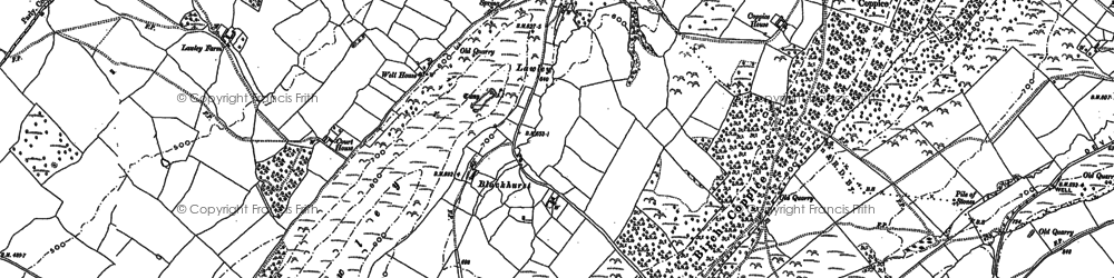 Old map of Yell Bank in 1882