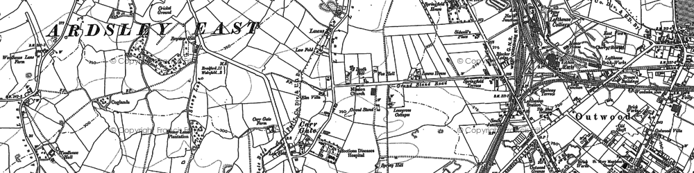 Old map of Lawns in 1892