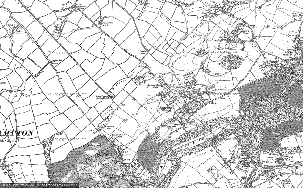 Old Map of Lawrence Weston, 1901 in 1901
