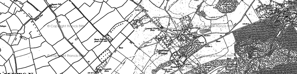 Old map of Lawrence Weston in 1901