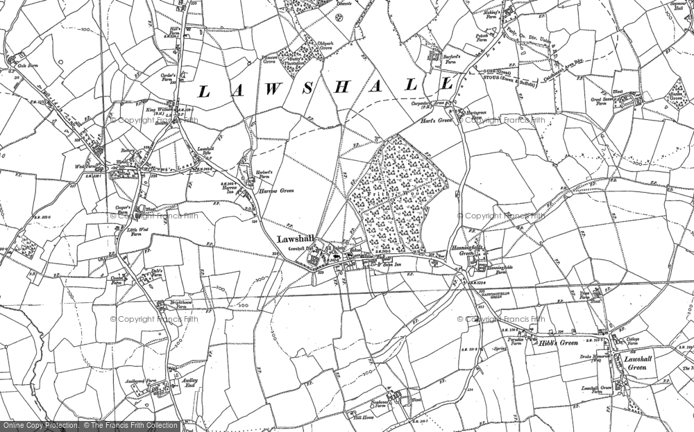 Map of Lawshall, 1884