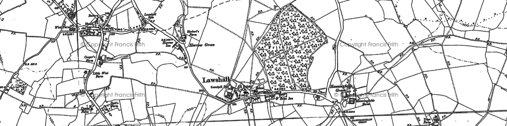 Old map of Barfords in 1884