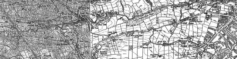 Old map of Laycock in 1892