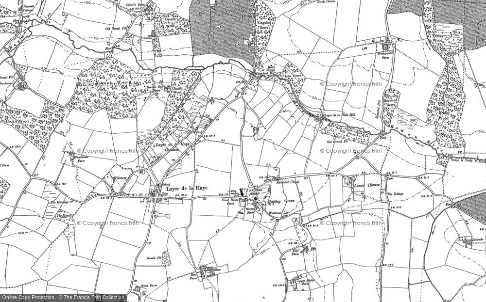 Old Map of Historic Map covering Abberton Reservoir in 1895
