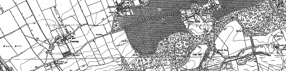 Old map of Lazenby in 1893