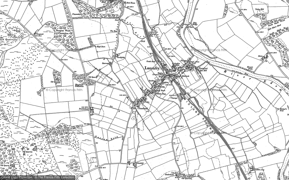 Map of Lazonby, 1898