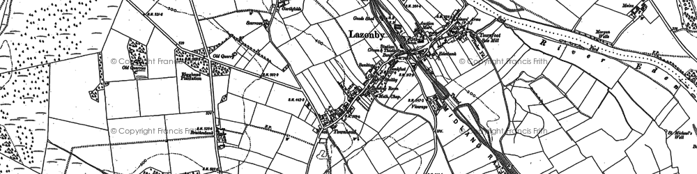 Old map of Lazonby in 1898