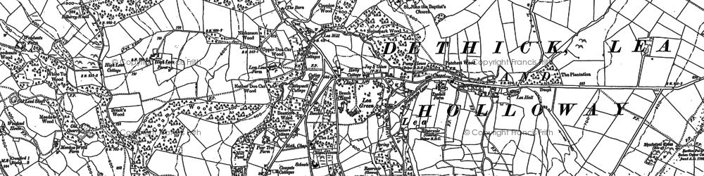 Old map of Lea in 1878
