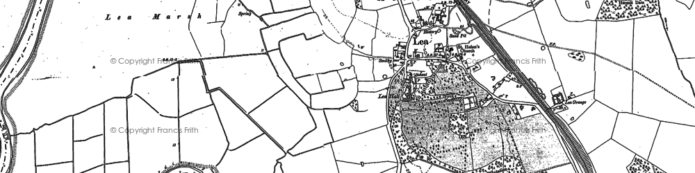 Old map of Lea in 1885