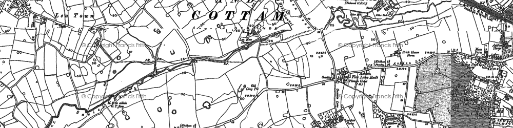 Old map of Lea in 1892