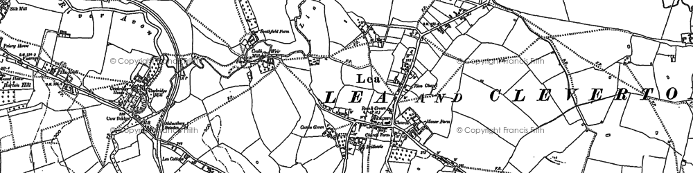 Old map of Lea in 1899
