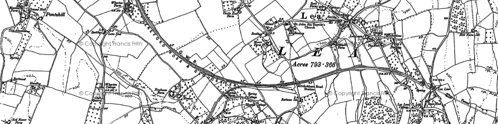 Old map of Adam's Cot in 1903