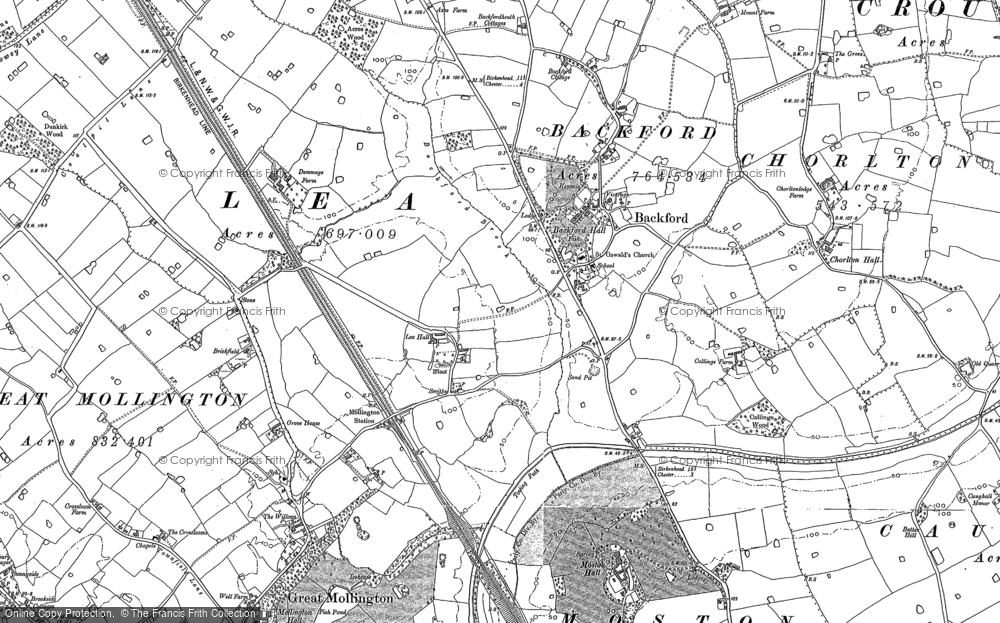 Old Map of Lea by Backford, 1898 in 1898