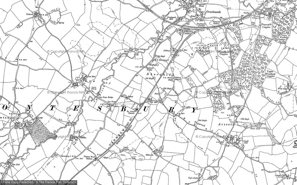 Map of Lea Cross, 1881