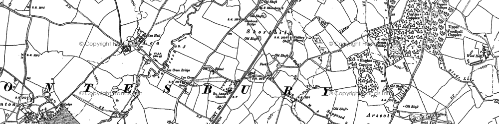 Old map of Lea Cross in 1881