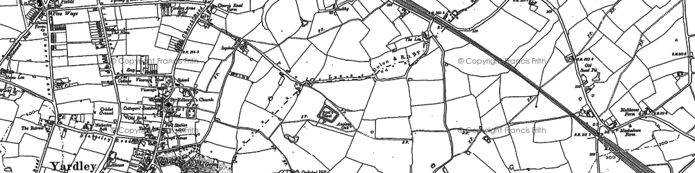 Old map of Lea Hall in 1886
