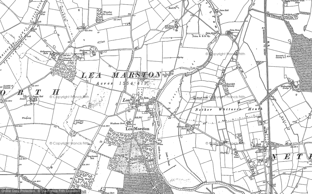 Old Map of Lea Marston, 1886 in 1886