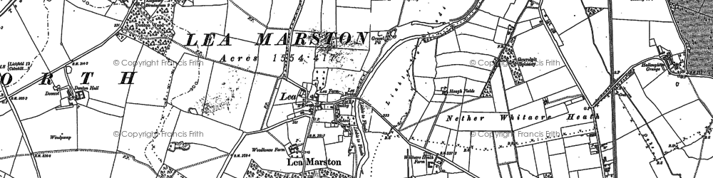 Old map of Lea Marston in 1886