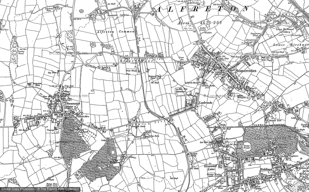 Map of Leabrooks, 1879 - 1880