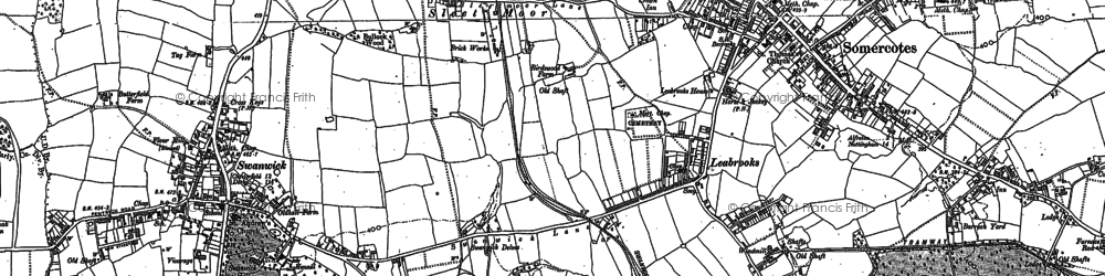Old map of Leabrooks in 1879