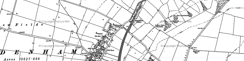 Old map of Leadenham in 1886