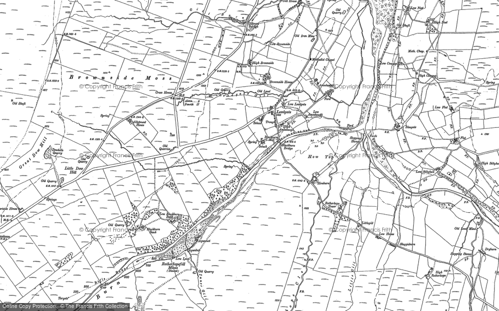 Old Map of Leadgate, 1898 in 1898