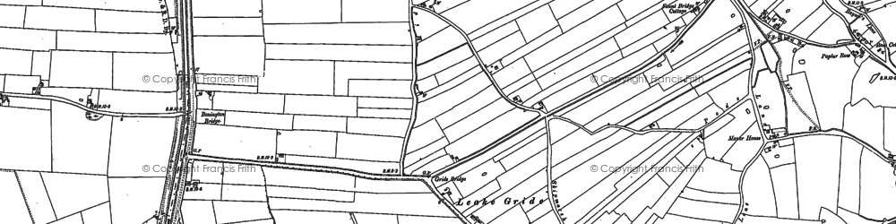 Old map of Leverton Ings in 1887
