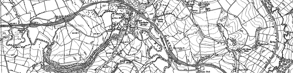 Old map of Lealholm Moor in 1892
