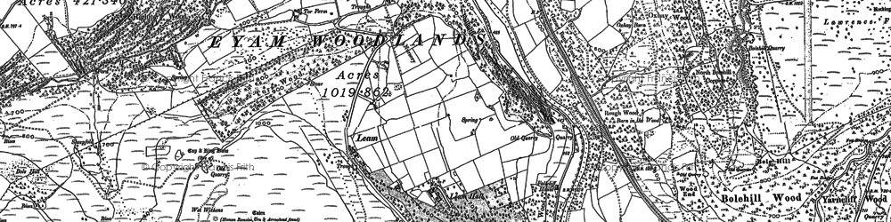 Old map of Leam in 1879
