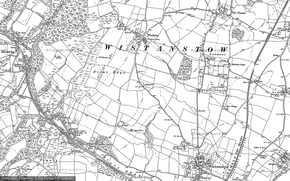 Old Map of Leamoor Common, 1883 in 1883